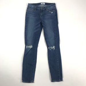 Paige Denim Verdugo Ankle Destroyed Blue Jeans